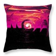 Swirling Sunset In Fuchsia  Throw Pillow