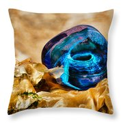 Swirls And Seaweed Throw Pillow