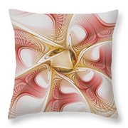 Swirls Of Red And Gold Throw Pillow