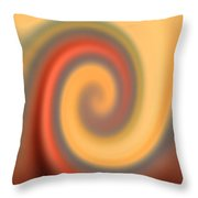 Swirly Abstract Throw Pillow