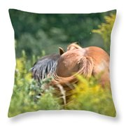 Swishing Tails Throw Pillow