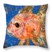 Swishy Fishy Throw Pillow