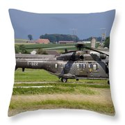 Swiss Air Force Eurocopter Cougar Throw Pillow