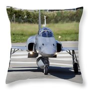 Swiss Air Force F-5e Tiger Recovering Throw Pillow