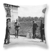 Swiss And German Border Guards Throw Pillow