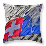 Swiss Flags  Throw Pillow
