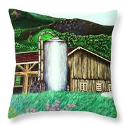 Swiss Granary Throw Pillow
