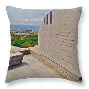 Swissair Flight 111 Of 1998 Memorial In Whalesback-ns Throw Pillow