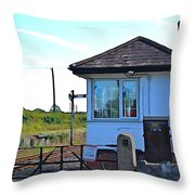 Switch House Throw Pillow