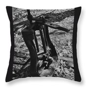 Switching Tracks Throw Pillow