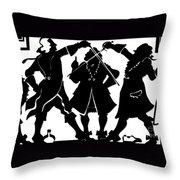 Sword Duel Silhouette  Throw Pillow