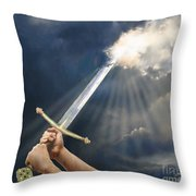 Sword Of The Spirit Throw Pillow by Tamer and Cindy Elsharouni