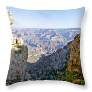 Swtichback Trails On The Steep Walls Of The Grand Canyon Throw Pillow