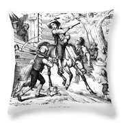 Sybil Ludington, 1776 Throw Pillow