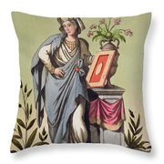 Sybil Of Cumae, No. 16 From Antique Throw Pillow