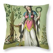 Sybil Of Delphi, No. 15 From Antique Throw Pillow