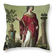 Sybil Of Eritrea With Her Insignia, 1796 Throw Pillow