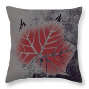 Sycamore Leaf Throw Pillow