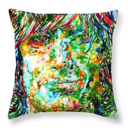 Syd Barrett - Watercolor Portrait Throw Pillow