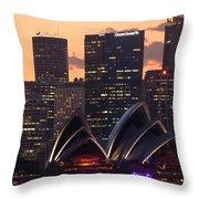 Sydney At Sunset Throw Pillow