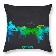 Sydney Australia Throw Pillow by Aged Pixel