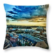 Sydney Harbor Sunrise Throw Pillow