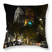 Sydney Harbour Bridge From Fort Street Throw Pillow