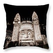 Sydney Luna Park Throw Pillow