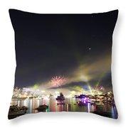 Sydney Navy Fleet Fireworks Throw Pillow