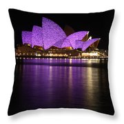 Sydney Opera During Vivid Sydney Festival Throw Pillow