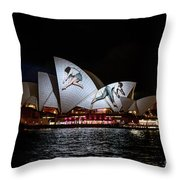 Sydney Opera House  Iv Throw Pillow