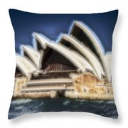 Sydney Opera House V11 Throw Pillow