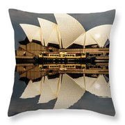 Sydney Opera House With Clouds Throw Pillow