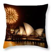 Sydney Opera Theatre Throw Pillow