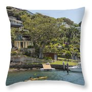 Sydney Seaside Villas Three Throw Pillow