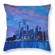 Sydney Skyline With Opera House At Dusk Throw Pillow