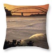 Sydney Surf Time Throw Pillow