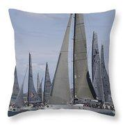Sydney To Hobart Yacht Race Throw Pillow