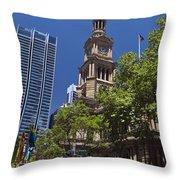 Sydney Town Hall Throw Pillow