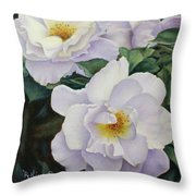 Sydneys Rose Oil Painting Throw Pillow