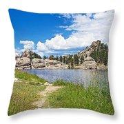 Sylvan Lake Trail In Custer State Park-south Dakota Throw Pillow