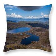 Sylvester Lakes In Kahurangi National Park Nz Throw Pillow
