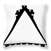 Symbol Cartography Throw Pillow