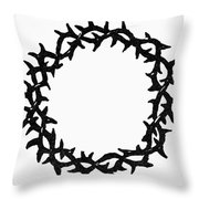 Symbol Crown Of Thorns Throw Pillow