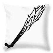 Symbol Flaming Sword Throw Pillow
