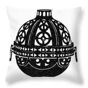 Symbol Incense Burner Throw Pillow