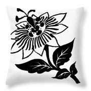 Symbol Passion Flower Throw Pillow