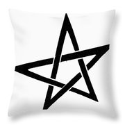 Symbol Pentacle Throw Pillow