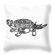 Symbol Tortoise Throw Pillow