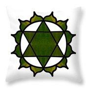 Symbolic Serenity Abstract Chakra Art By Omaste Witkowski  Throw Pillow
